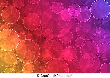 resumen, en, un, colorido, plano de fondo, digital, bokeh,...