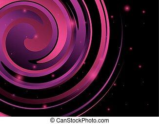 resumen, espiral, plano de fondo, violeta