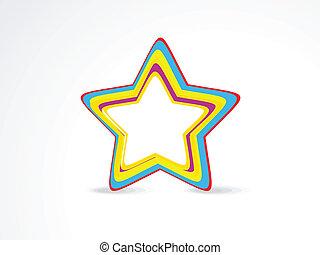 resumen, estrella, colorido, icono