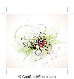 resumen, floral, plano de fondo