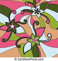 resumen, flores, colorido