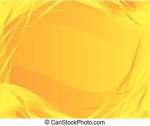 resumen, fondo amarillo, onda
