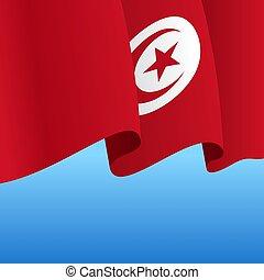 resumen, fondo., bandera, ondulado, illustration., vector, ...