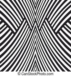 resumen, fondo., negro y blanco, pattern.