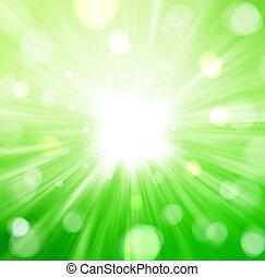 resumen, fondo verde, radial
