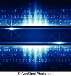 resumen, futuro, tecnología, digital, concepto, plano de...