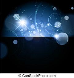 resumen, galaxia, plano de fondo, noche
