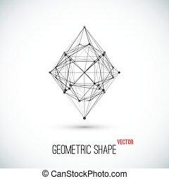 resumen, geométrico, forma.