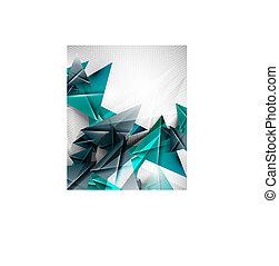 resumen, geométrico, forma triángulo, plano de fondo