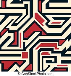 resumen, geométrico, seamless, patrón, para, su, diseño