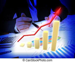 resumen, global, plano de fondo, empresa / negocio