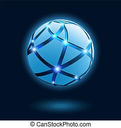 resumen, globo, icon.
