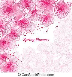 resumen, gradiente, seamless, flor, plano de fondo, con, orchid.