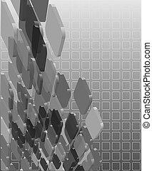 resumen, grayscale, transparente, composición