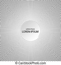 resumen, hipnótico, plano de fondo, en, negro y blanco, vector, ilustración