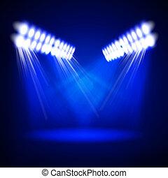 resumen, iluminación, imagen, concierto