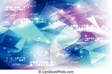 resumen, ilustración, fondo., vector, tecnología digital, futurista