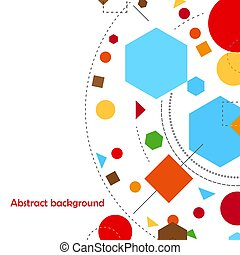 resumen, ilustración, formas, vector, plano de fondo,...