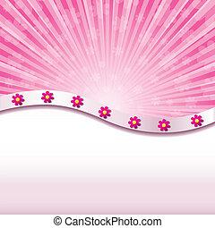 resumen, ilustración, plano de fondo, flores, vector, rosa