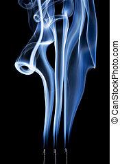 resumen, incienso, humo