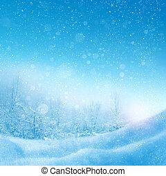 resumen, invierno, plano de fondo