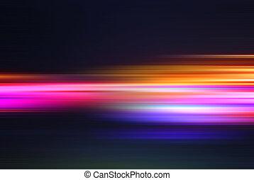 resumen, líneas, movimiento velado, luces, plano de fondo, el acometer, o