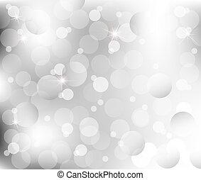 resumen, luces, en, gris, plata, espalda