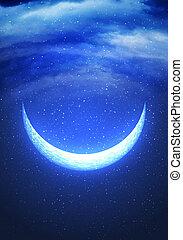 resumen, luna medialuna