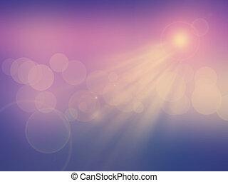 resumen, luz del sol, plano de fondo