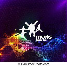 resumen, música, baile, plano de fondo