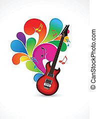 resumen, música, colorido, plano de fondo