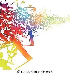 resumen, música, diseño, para, uso, como, un, plano de fondo