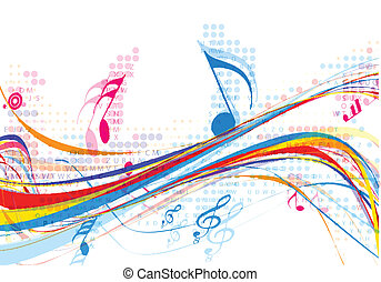 resumen, música nota, diseño