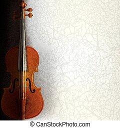 resumen, música, plano de fondo, con, violín