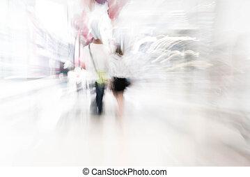 resumen, mancha, las personas presente, hermoso, lujo, centro comercial, centro, y, tienda, tienda al por menor