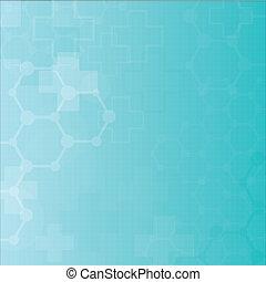 resumen, moléculas, médico, plano de fondo