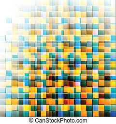 resumen, mosaico, fondo., vector, ilustración, eps10