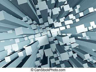 resumen, mosaico, plano de fondo, 3d