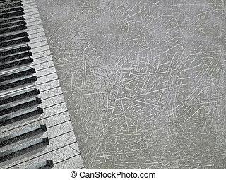 resumen, musical, plano de fondo