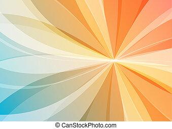 resumen, naranja, y azul, plano de fondo, papel pintado
