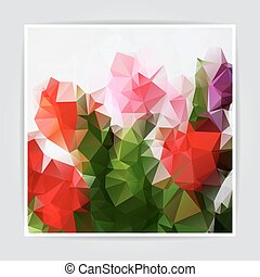 resumen, natural, colorido, triángulo, polygonal, vector,...