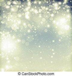 resumen, navidad, plano de fondo, de, feriado, luces