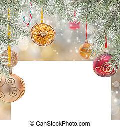 resumen, navidad, plano de fondo