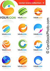resumen, negocio global, iconos