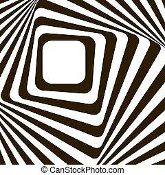 resumen, negro, líneas, effect., distorsión, blanco