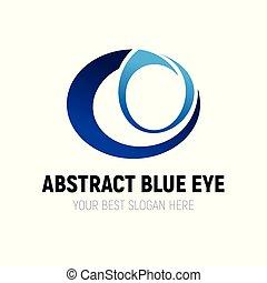 resumen, ojo azul, logotipo, diseño