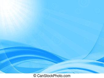 resumen, ondas azules, plano de fondo