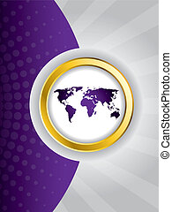 resumen, púrpura, folleto, diseño
