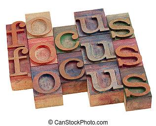resumen, palabra, foco