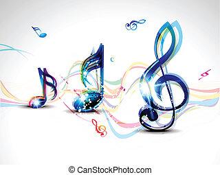 resumen, palabra, musical, colorido
